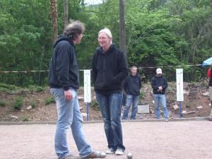 Anja und Frank beim Pokalspiel in Rheingrafenstein